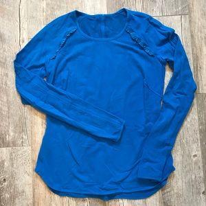 Lululemon fleece ruffle shirt